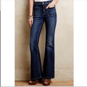 Anthro Pilcro Superscript High Rise Flare Jeans